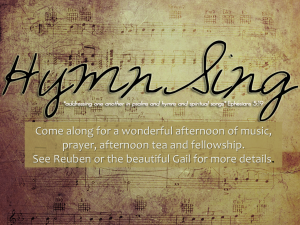 HymnSing @ Kiama UCA Fellowship Centre | Kiama | New South Wales | Australia